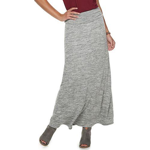 Juniors' Joe B Cinched Solid Hatchi Maxi Skirt