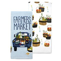 Celebrate Spring Together Truck Kitchen Towel 2-pack