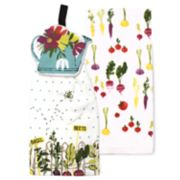 Celebrate Spring Together Water Can Tie-Top Kitchen Towel 2-pack