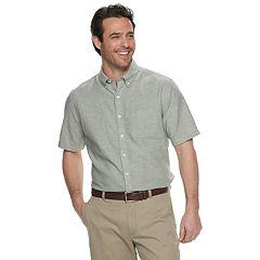 Men's Croft & Barrow® Classic-Fit Easy-Care Linen-Blend Button-Down Shirt
