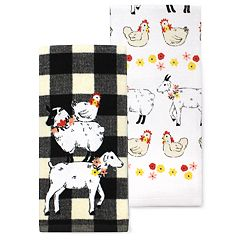 Celebrate Spring Together Stacked Animals Kitchen Towel 2-pack