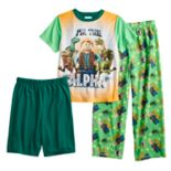 Boys 4-10 Lego Jurassic World 3-Piece Pajama Set