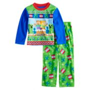 Boys 6-12 Minecraft Creeper Fleece 2-Piece Pajama Set
