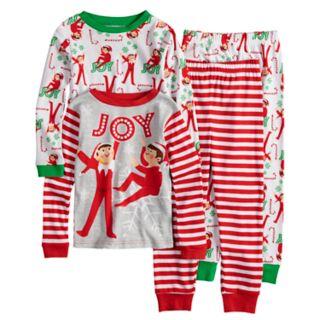 Boys 6-12 Elf On the Shelf 4-Piece Pajama Set
