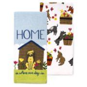 Celebrate Spring Together Dog Kitchen Towel 2-pack