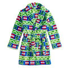 Boys 6-12 Minecraft Creeper Plush Robe