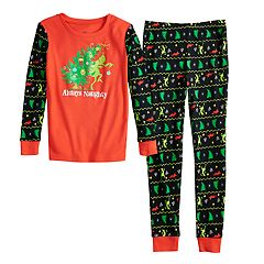 Boys 4-20 Grinch Always Naughty 2-Piece Pajamas