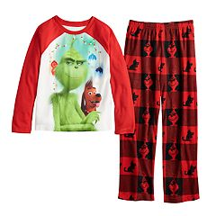 Boys 4-20 Grinch Fleece 2-Piece Pajamas