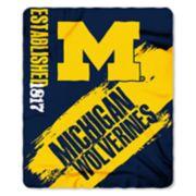 Michigan Wolverines Clear Stadium Tote & Throw Blanket Set
