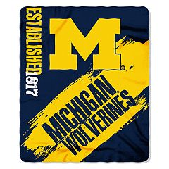 Michigan Wolverines Clear Stadium Tote & Throw Blanket Set