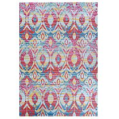 Couristan Xanadu Toluca Iris Indoor / Outdoor Colorful Geometric Rug