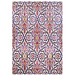 Couristan Xanadu Puebla Violeta Indoor / Outdoor Colorful Geometric Rug
