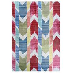 Couristan Xanadu Coyoacan Mestizo Indoor / Outdoor Geometric Chevron Rug