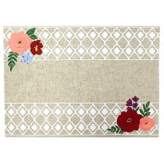 Celebrate Spring Together Linen Floral Placemat
