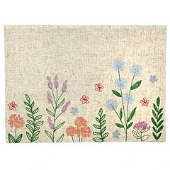 Celebrate Spring Together Neutral Linen Placemat