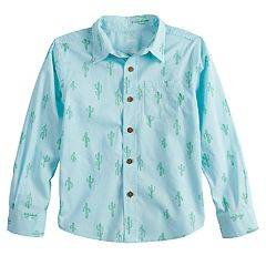 Boys 4-12 SONOMA Goods for Life™ Cactus Button Down Woven Shirt