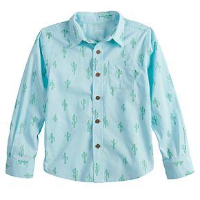 Boys 4-12 SONOMA Goods for Life? Cactus Button Down Woven Shirt