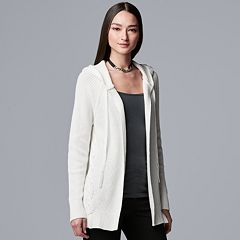 93b62a9c438 Women s Simply Vera Vera Wang Hooded Cardigan Sweater