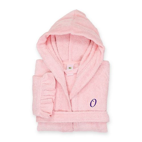 72b2aa498c Linum Home Textiles Turkish Cotton Kids Personalized Hooded Bathrobe
