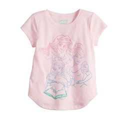 Disney's Belle, Ariel & Cinderella Toddler Girl Glittery Graphic Tee by Jumping Beans®