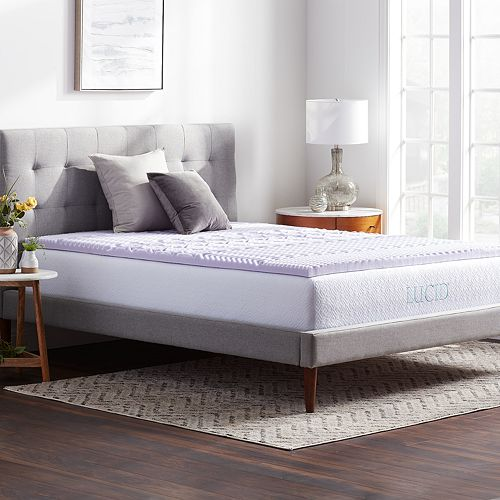 Lucid Dream Collection 2 In Zoned Lavender Memory Foam Mattress Topper