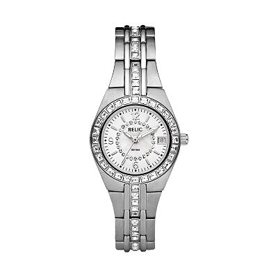 Relic Silver-Tone Crystal Watch - Women