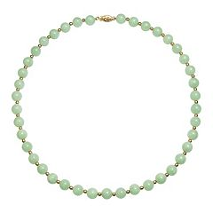 14k Gold Bead Jade Necklace