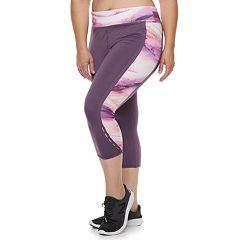 Plus Size Tek Gear® Dry Tek Perforated Capri Leggings