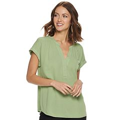 dfe24d213 Womens Green Shirts & Blouses - Tops, Clothing | Kohl's