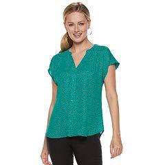 5a65aedc2de Womens Blue Button-Down Shirts Tops