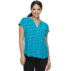 0cb9d5a9 Womens Blue Shirts & Blouses - Tops, Clothing | Kohl's