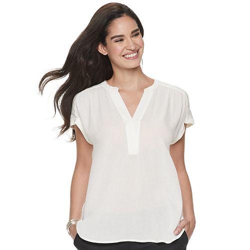Women's Apt. 9® Poplin Dolman Shirt