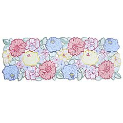 Celebrate Spring Together Floral Cut-Out Table Runner - 36'
