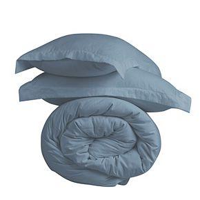 Microfiber Washed Crinkle Duvet Cover Set