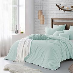 Microfiber Washed Crinkle Duvet Cover Set