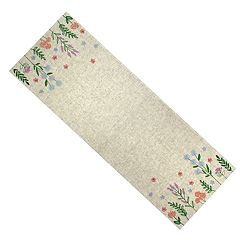Celebrate Spring Together Neutral Linen Table Runner - 36'