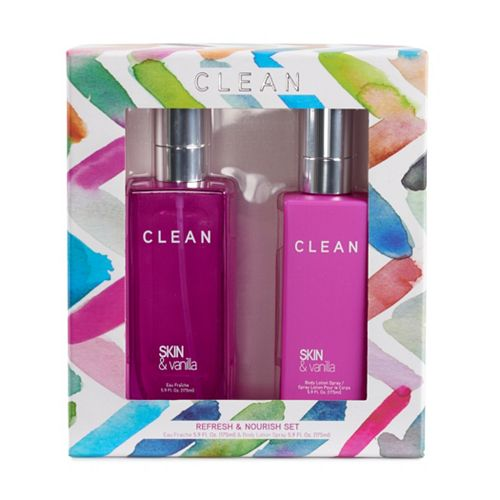 CLEAN Skin & Vanilla Women's Eu Fraiche and Body Lotion Set