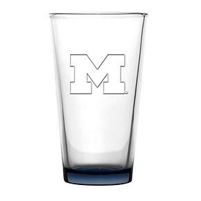 Boelter Michigan Wolverines Embossed Pint Glass