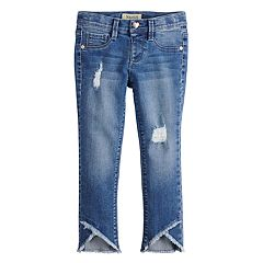 Girls 4-6x Squeeze Distressed Tulip-Hem Jeans