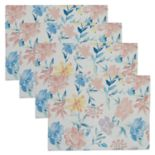 Celebrate Spring Together Floral Print Placemat 4-pack