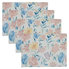 Celebrate Spring Together Floral Print Placemat 4-pack