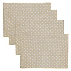 Celebrate Spring Together Neutral Polka-Dot Placemat 4-pack