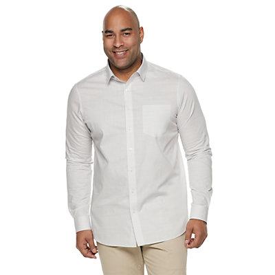 Big & Tall Apt. 9® Regular-Fit HEIQ Performance Button-Down Shirt
