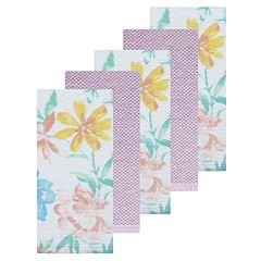 Celebrate Spring Together Floral Print Kitchen Towel 5-pack