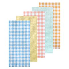 Celebrate Spring Together Gingham Print Kitchen Towel 5-pack