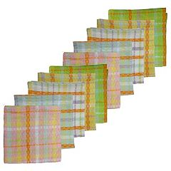 Celebrate Spring Together Woven Plaid Dishcloth 10-pack