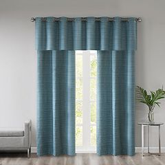 510 Design 3-piece Cove Room Darkening Window Curtain & Valance Set