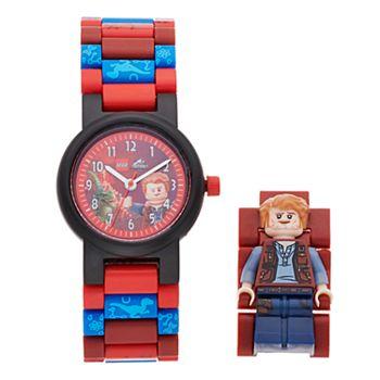 LEGO Kids' Jurassic World Owen Minifigure Interchangeable Watch Set