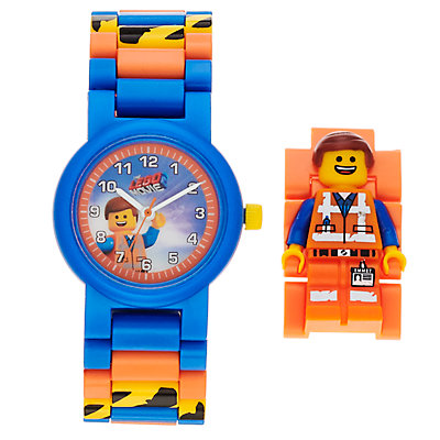 LEGO Movie 2 Kids' Emmet Minifigure Interchangeable Watch Set