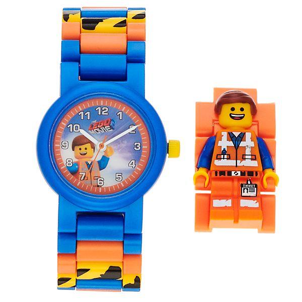 Lego Movie 2 Kids Emmet Minifigure Interchangeable Watch Set